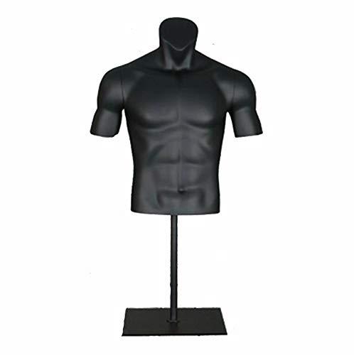 XJBHRB Maniquí de Cuerpo de Torso Masculino, Busto de exhibición de maniquí de Ropa Deportiva Masculina, con Soporte de Piso de Metal, para Trajes de baño, Moda y Accesorios