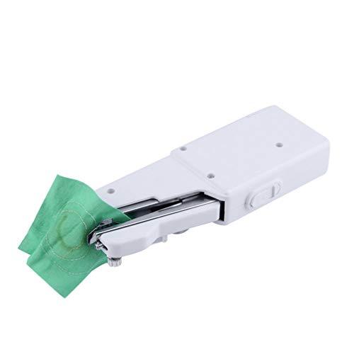 Exceart 2 Stks Handnaaimachine Elektrische Naaimachine Draadloze Steek Snelle Reparaties Stof Leer Denim (Wit)