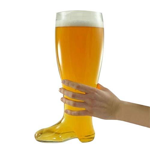 Eurrowebb Chope en Verre bière Botte XXL 800 ML