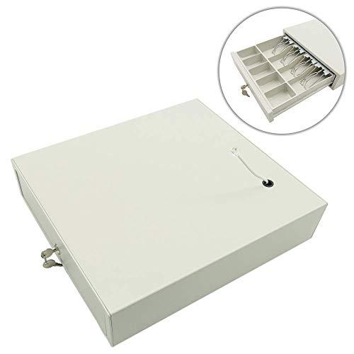BeMatik - Cajón portamonedas Beige automático RJ11 para Impresora TP