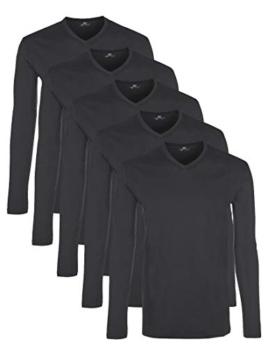 Lower East LE158 Langarmshirt, Forged Iron, XL, 5er-Pack