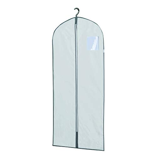 Compactor, Housse Longue pour Vêtements, Fermeture Zippée Anti-Poussière, Blanc, 60 x H. 137 cm, RAN631