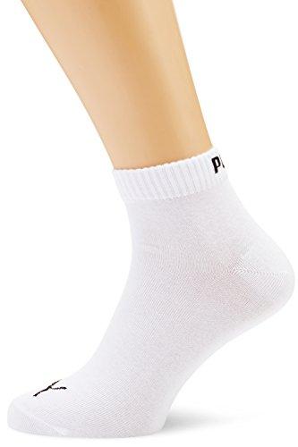 PUMA Unisex Quarters Socken Sportsocken 6er Pack (35-38, weiß)