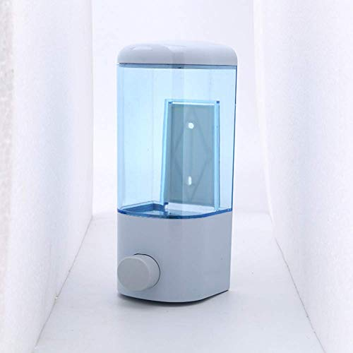 L-YINGZON Dispensador de jabón Colgar de la Pared Blanco de Titanio de plástico dispensador de jabón Hotel Home montado en la Pared-prensado Manual Alimentador del jabón líquido Accesorios de baño
