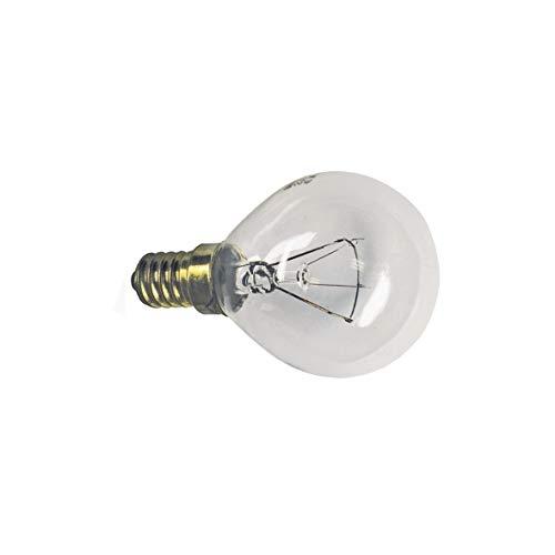 Lampe E14 40W 45mmØ 75mm 220/230V Kugelform Universal für Backofen Herde Dunstabzugshauben Geschirrspüler passend wie Bosch 00057874 Electrolux 50279890003 Miele 1929380 Küppersbusch 503768