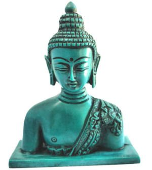 4' Buddha Statue for meditaion or Home deocor, Alter, Buddha Head for Home and Alter, Peace and properity Made by Himalayan Artisan in Nepal