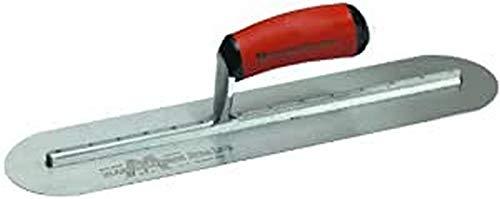 Marshalltown MXS815FRD Suelos pavimento, Almohadilla de Arrastre Cuchilla de Recambio con Extremos Redondeados de magnesio, tamaño del alisador: 914x203 mm, plata, 457x127 mm