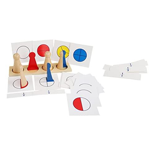 Kisangel Frazione Giochi da Tavolo Shape Sorter Ordinamento Giocattolo di Legno Math Giocattoli Educativi per I Bambini Matematica Gioco di Apprendimento