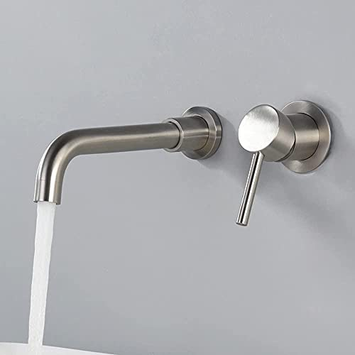 Grifo 304 Stainless Steel Concealed Basin FaucetWall Mounted Basin Mixer TapsSink Mixer Tap Bathroom FaucetHot &AmpCold Water Faucet Set Household For Family HotelBalconyToilet