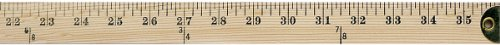 Westcott Wooden Yardstick with Hang Hole and Brass Ends, Clear Lacquer Finish (10425)