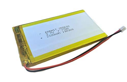 EREMIT Lithium Polymer LiPo Batterie Akku 2100mAh 3.7 V 1S EREMIT 355692 PCB Tablet JST PH 2.0 mm 5