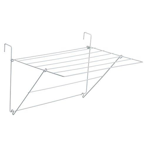 Sauvic Blanco TENDEDERO BALCÓN Simple, Acero con Recubrimiento plástico anticorrosivo de Color, 61x49x32 cm