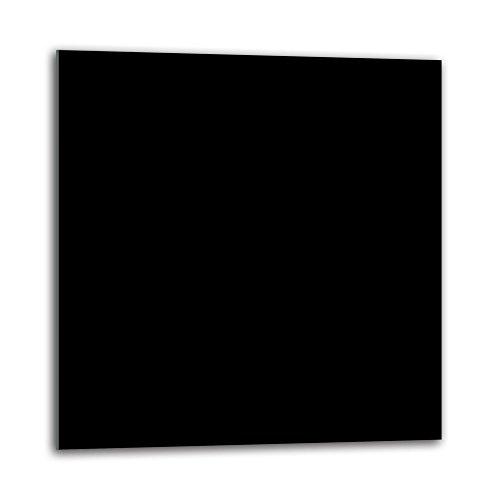 decorwelt Küchenrückwand Spritzschutz aus Glas 60x60 Wandschutz Herd Spüle Küchenspritzschutz Fliesenschutz Fliesenspiegel Küche Dekoglas Schwarz