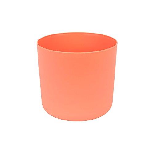 Classique cache-pot en plastique Aruba 15 cm en orange couleur