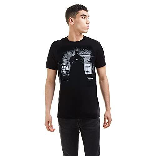 DC Comics Batman Dark Camiseta, Negro (Black Blk), Medium para Hombre