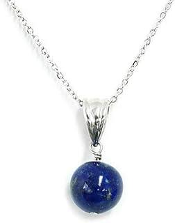One&OnlyJewellery 天然無着色 ラピスラズリ 10mm 一粒 ネックレス ペンダント K18GP 天然石 パワーストーン 12月誕生石 Lapis Lazuli