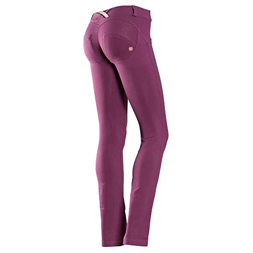 FREDDY Pantaloni WRUP Donna Effetto Push Up Colore Prugna (S)