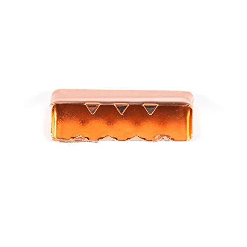 Metall-Endstück für Gurtband 25mm, kupfer - Preis gilt für 1 Stück