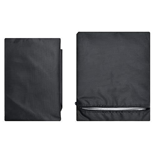 DAUERHAFT Silla Impermeable Anti-óxido a Prueba de Polvo Protector Plegable portátil al Aire Libre Silla a Prueba de Polvo para(210D Outer Black Inner Silver)