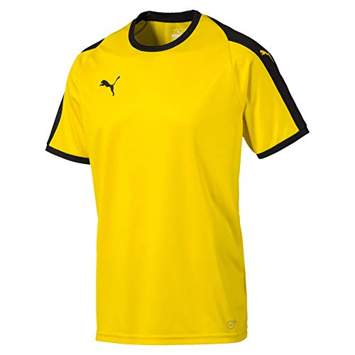 PUMA Men's Liga Jersey, Cyber Yellowpuma Black, M