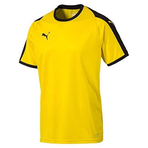 PUMA Men's Liga Jersey, Cyber Yellowpuma Black, S