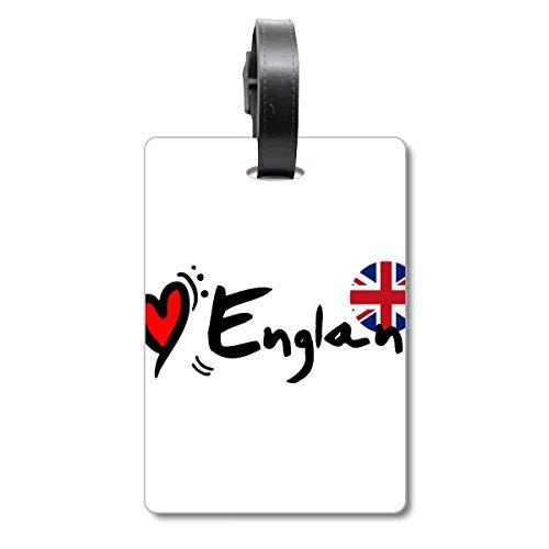 I Love England - Etiqueta de identificación para Maleta, diseño de Bandera de Inglaterra