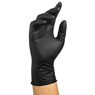 Black Nitrile Exam Gloves-4mil (Small)