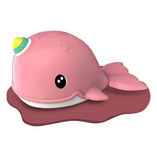 Muium(TM) Ballena de cuerda, juguete de agua para bebés, juguete para el baño, juguete para la playa, juguete para la bañera, juguete para la piscina
