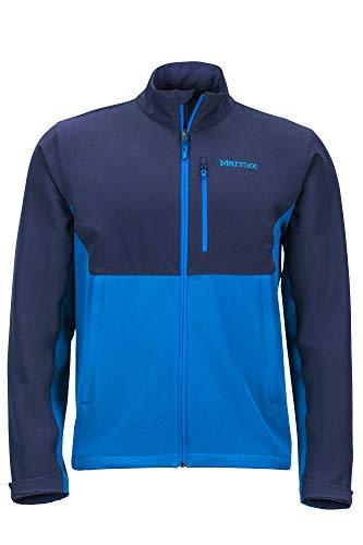 Marmot Herren Softshelljacke, Funktions Outdoor Jacke, Wasserabweisend Estes II Jacket, Classic Blue/Arctic Navy, XXL, 81790