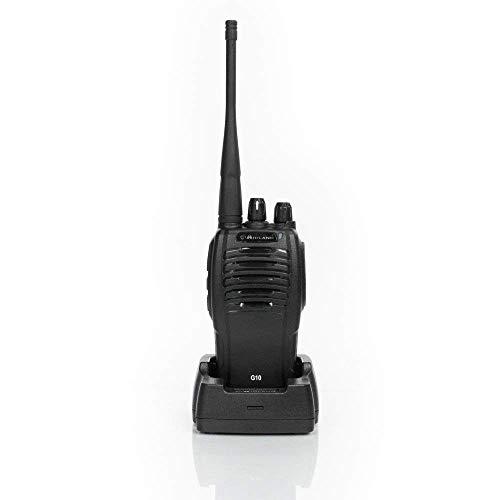 Midland G10 Radio Ricetrasmittente Walkie Talkie 8 Canali PMR446 e 8 Canali Preimpostati, 1 Ricetrasmettitore, Batterie Ricaricabili Li-Ion 1200 mAh, Caricabatterie da Tavolo e Adattatore da Muro