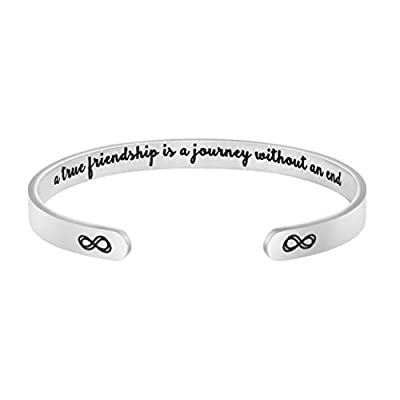 Joycuff Inspirational Bracelets for Women Mom Personalized Gift for Her Engraved Mantra Cuff Bangle Crown Birthday Jewelry
