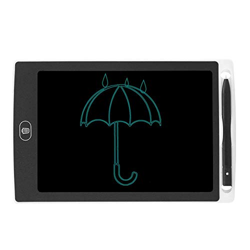 Bewinner1 LCD Writing Tablet, 8.5in No Bright Light No Blue Light No Myopia Eye Protection LCD Children Smart Graffiti Drawing Doodle Board One Click To Clear Kids' Doodle Scribbler Boards(White)