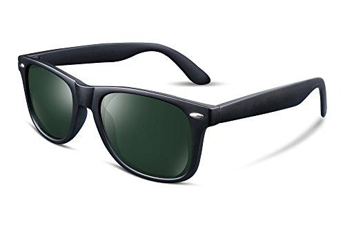 FEISEDY Gafas de Sol Polarizada Hombre Retro Clásicas HD Lente Gafas de Sol Mujer B1858