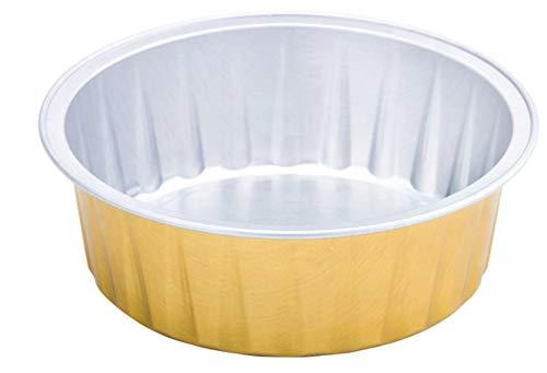 KEISEN 3 2/5' Vajilla de Aluminio Copas 100Ml 4OZ 100 / Env para la Magdalena del Hornear Mollete Utilidad Ramekin Copa de Oro