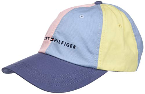 Tommy Hilfiger Men's Logo Dad Baseball Cap, Double...