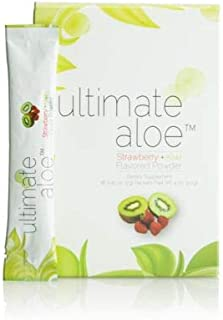 Ultimate Aloe Powder, Strawberry Kiwi Flavored Powder, Healthy Digestive Tract, Promotes Normal Healing, Strong Immune System, Digestive Comfort, Powder Packets, Market America (16 Packets)