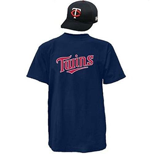 Combo Cap & Jersey Minnesota Twins Licensed Replica Hat/Shirt (10 Youth/Adult Sizes) (Adult Cap/Adult Large Jersey)