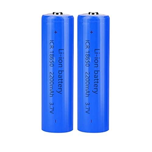 18650 Batteria 3.7v Ricaricabile agli Ioni di Litio, 2200mAh Grande Capacità Batteria Ricaricabile 18650 Pile Ricaricabili per Torcia a LED, Illuminazione di Emergenza, Dispositivi Elettronici(2pcs)