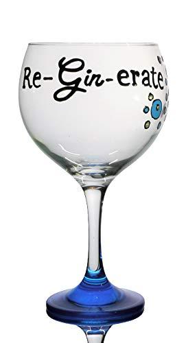 """Dartington Diseños Gin tiempo /""""su Gin O /'CLOCK/' G/&T Copa De Vidrio"""