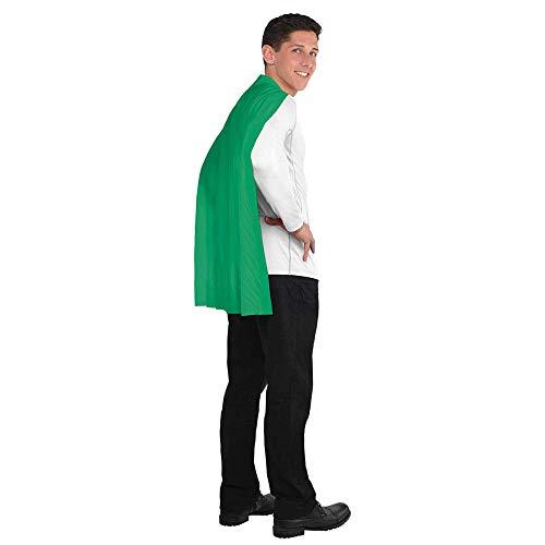 "Amscan Solid Color Super Hero Costume 30"" Cape, Green"