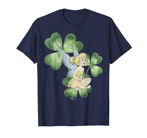 Disney Peter Pan Tinker Bell Clover St. Patrick's Portrait T-Shirt
