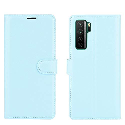 BEIJING  PROTECTIVECOVER+ / for Huawei Nova 7 SE Litchi Texture Horizontal Flip Funda Protectora con Soporte y Ranuras Tarjetas y Billetera, Fashion Phone Funda para Protector (Color : Azul)
