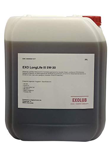 20 Liter EXO LongLife III 5W-30 Motorenöl