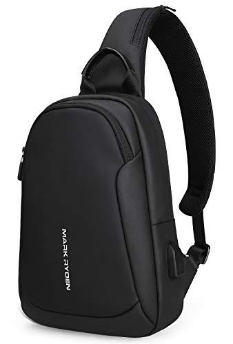 Mark Ryden Anti-Diebstahl-Schlinge Chest Bag Handtasche für Männer Wasserdicht Crossbody Reise Umhängetasche Fit für 9,7