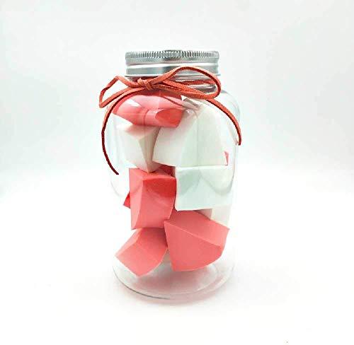 Detazhi Super Soft Petit Ventilateur en Forme de Bonbons Puff Conserve Clean No Jam Fond de Teint Poudre œufs 12 Bouteilles 4.5cm / Blanc Rose (Color : White Pink, Size : 4.5cm)