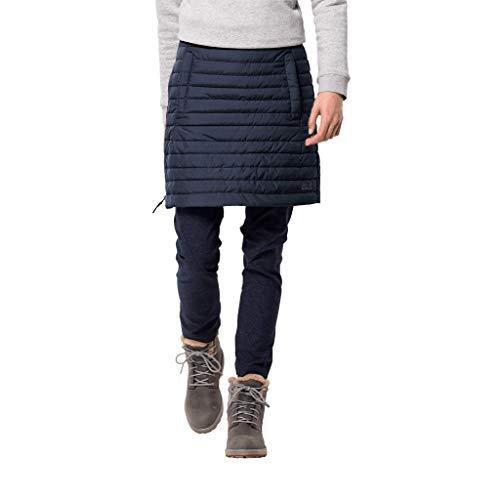 Jack Wolfskin Damen ICEGUARD Skirt Winterrock Wind-und wasserabweisend Rock, Midnight blau, XL