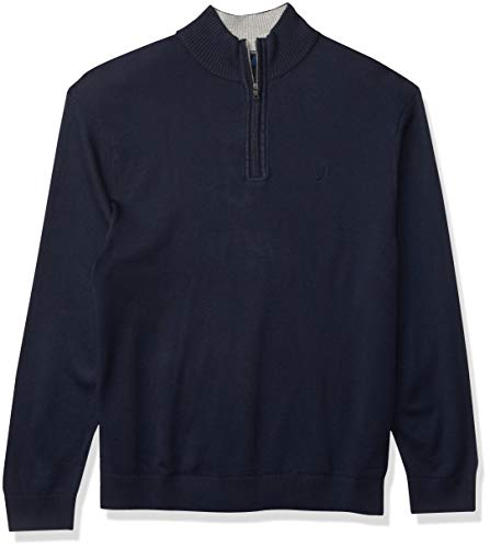Nautica Men's Quarter-Zip Sweater, Navy, XX-Large
