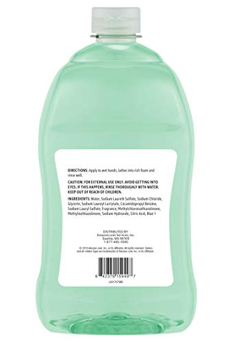 Amazon Brand - Solimo Liquid Hand Soap Refill, Mango and Coconut Water Scent, Triclosan-Free, 56 Fluid Ounces, Pack of 1