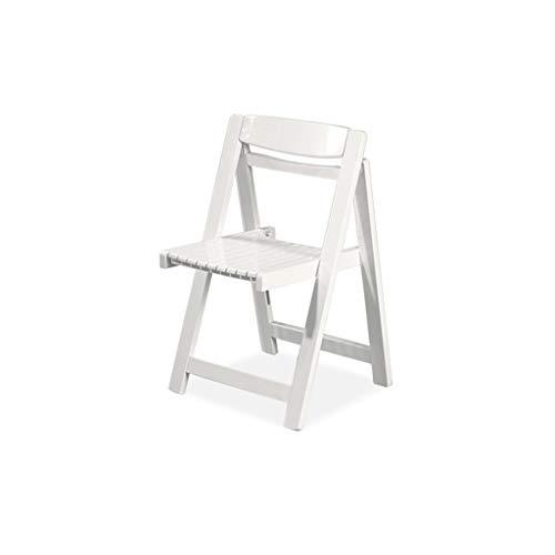 SFFSYAB Chaises-Chaises de Cuisine Salon Chaises Longues en Bois Massif rétro Pliable (Couleur : Blanc)