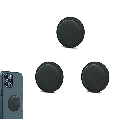 Airtags Funda de Silicona, 3 Piezas Airtag GPS Tracker Cubierta de Montaje Adhesivo Posterior, Cubierta Protectora Suave antirrayas Liviana Tipo Pasta, Seguridad y antipérdida-Black